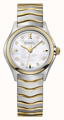 EBEL Wave Womens Two-tone Watch | Silver-Gold Strap | 1216197