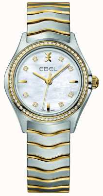 EBEL Wave Ladies Two-tone Diamond Set Watch 1216351