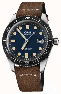 Oris Divers Sixty-five Automatic Brown Leather Strap Blue Dial 01 733 7720 4055-07 5 21 02