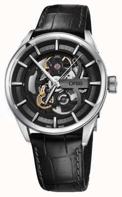 Oris Artix Skeleton Automatic Black Leather Strap 01 734 7714 4054-07 5 19 81FC