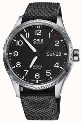 Oris Big Crown Propilot Day Date Black Fabric Strap Black Dial 01 752 7698 4164-07 5 22 15FC