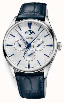 Oris Artelier Date Automatic Complication Blue Leather Strap 01 781 7729 4051-07 5 21 66FC
