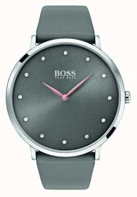 Hugo Boss Womans Jillian Watch Grey Leather 1502413