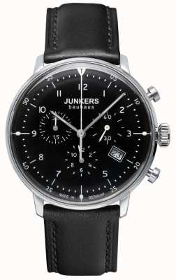 Junkers Mens Bauhaus Chronograph Black Leather Strap 6086-2