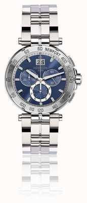 Michel Herbelin Mens Newport Chronograph Stainless Steel Bracelet Blue Dial 36696/B35