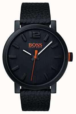 Hugo Boss Mens Commander Brown Leather Strap Grey Dial 1513490