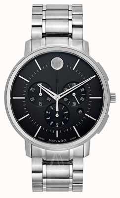 Movado Mens Thin Classic Chronograph Black 0606886