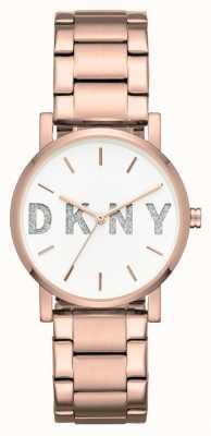 DKNY Womans Soho Rose Gold Tone Bracelet NY2654