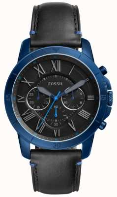 Fossil Mens Grant Chronograph Black And Blue FS5342