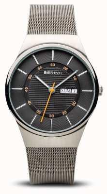 Bering Mens Classic Multifunction Silver Mesh Bracelet 12939-077