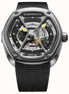 Dietrich Organic Time Satin Steel Case Black Fabric Strap OT-3
