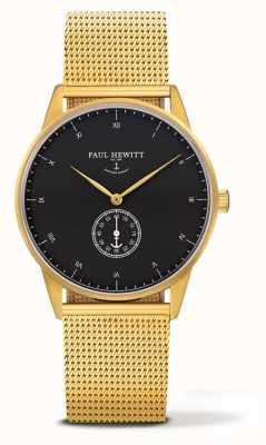 Paul Hewitt Unisex Signature Watch | Gold Stainless Steel Mesh Bracelet PH-M1-G-B-4M