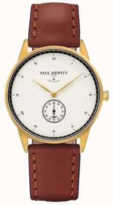 Paul Hewitt Unisex Signature Brown Leather Strap PH-M1-G-W-1M