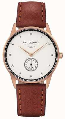 Paul Hewitt Unisex Signature Brown Leather Strap PH-M1-R-W-1M