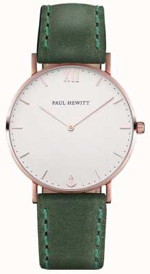 Paul Hewitt Unisex Sailor Green Leather Strap PH-SA-R-ST-W-12M