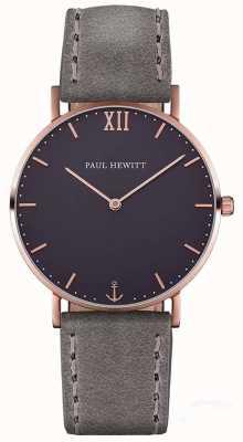 Paul Hewitt Unisex Sailor Grey Leather Strap PH-SA-R-ST-B-13M