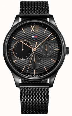 Tommy Hilfiger Men's Damon Black IP Mesh Watch 1791420