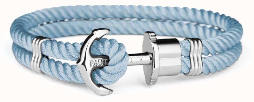 Paul Hewitt Jewellery Phrep Silver Anchor Navy Nylon Bracelet PH-PH-N-S-N-M