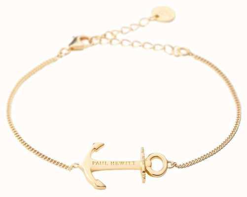 Paul Hewitt Jewellery Anchor Spirit Gold Bracelet PH-AB-G
