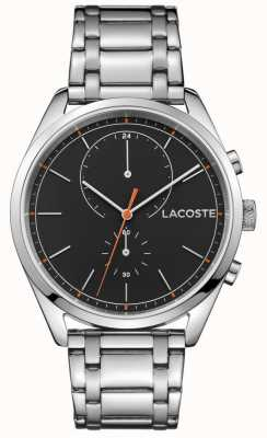 Lacoste Mens San Diego Stainless Steel Black Dial 2010918