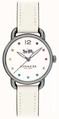 Coach Womans Delancey Watch White Leather Strap 14502915