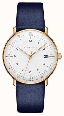 Junghans Max Bill Ladies Quartz | Blue Leather Strap | 047/7851.00