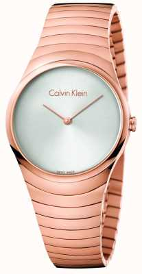 Calvin Klein Womans Rose Gold Tone Stainless Steel Whirl Watch K8A23646
