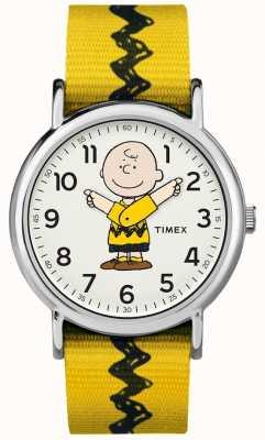 Timex Weekender Charlie Brown Peanuts Yellow Strap TW2R411006B
