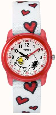 Timex Youth Analogue White Strap Snoopy Hearts TW2R41600JE
