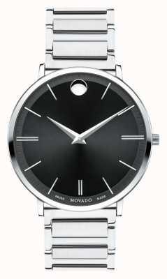 Movado Mens Ultra Slim Stainless Steel Watch 0607167
