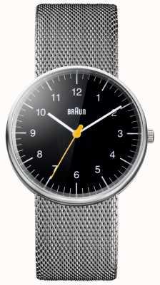 Braun Unisex Steel Mesh Bracelet Watch BN0021BKSLMHG