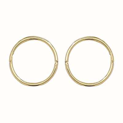 James Moore TH 9k Yellow Gold Hinged Sleepers 10 mm ES144