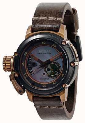 U-Boat Chimera 43 B&B Mother Of Pearl Automatic Brown Leather Strap 8069