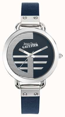 Jean Paul Gaultier Womens Index G Blue Leather Strap Blue Dial JP8504324