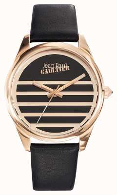 Jean Paul Gaultier Navy Black Leather Strap Black Dial JP8502410