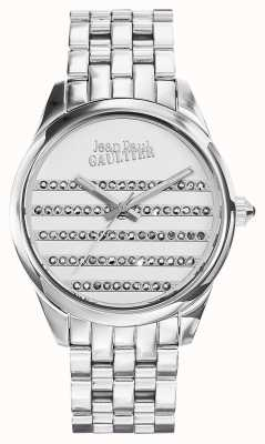 Jean Paul Gaultier Navy Stainless Steel Bracelet White Dial JP8502404
