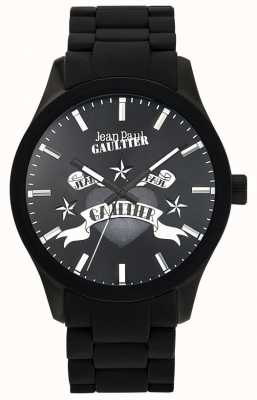 Jean Paul Gaultier Enfants Terribles Black Rubber Bracelet Black Dial JP8501125