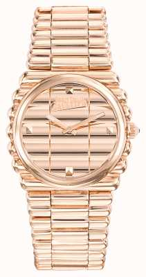 Jean Paul Gaultier Womens Bord Cote Rose Gold PVD Bracelet Rose Gold Dial JP8504106