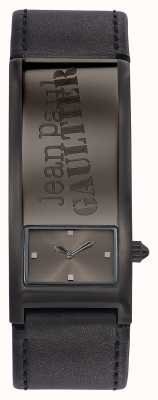 Jean Paul Gaultier Identite Grey Leather Strap Grey Dial JP8503703