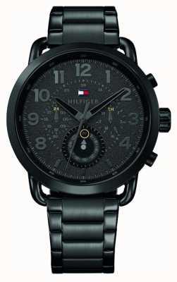 Tommy Hilfiger Briggs Mens Black Stainless Steel Bracelet Black Dial 1791423