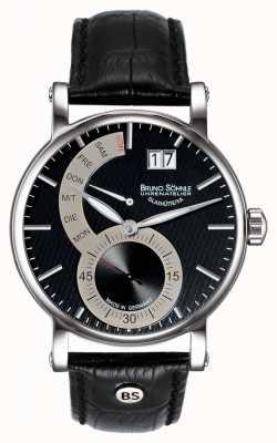 Bruno Sohnle Pesaro II 43mm Black Leather Watch 17-13073-781