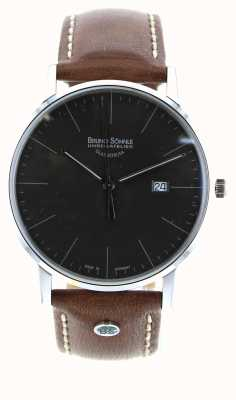 Bruno Sohnle Stuttgart I 42mm Brown Leather Watch 17-13175-841