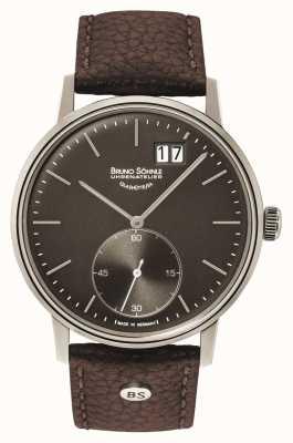 Bruno Sohnle Stuttgart II 42mm Brown Leather Watch 17-13179-841