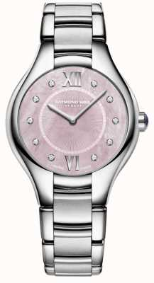 Raymond Weil Womans Noemia Diamond Quartz Mother Of Pearl Watch 5132-ST-00986