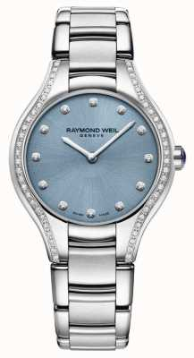 Raymond Weil Womens Noemia Diamond Stainless Steel Bracelet Blue Dial 5132-STS-50081