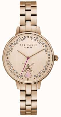Ted Baker Womens Kate Pink Fairy Crystal Set Rose Gold Dial TE50005003