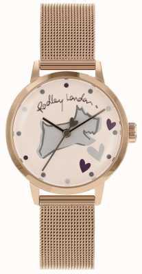 Radley Love Lane Stainless Steel Rose Gold Case Mesh Bracelet RY4324