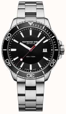 Raymond Weil Mens Tango Stainless Steel Bracelet Black Dial 8260-ST1-20001