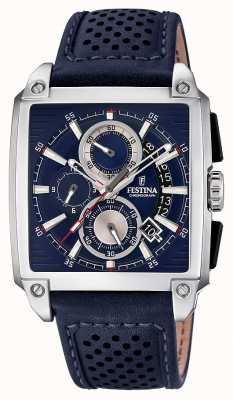 Festina Chrono Leather Strap Square Dial Date Display F20265/2