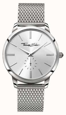 Thomas Sabo Rebel Spirit Second Subdial Stainless Steel Silver Mesh WA0300-201-201-42